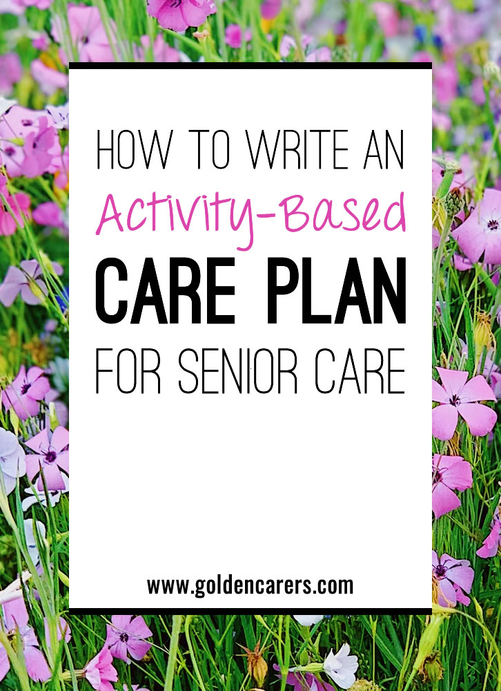 This article provides a guide to creating Activity-Based Care Plans for residents in long-term care.