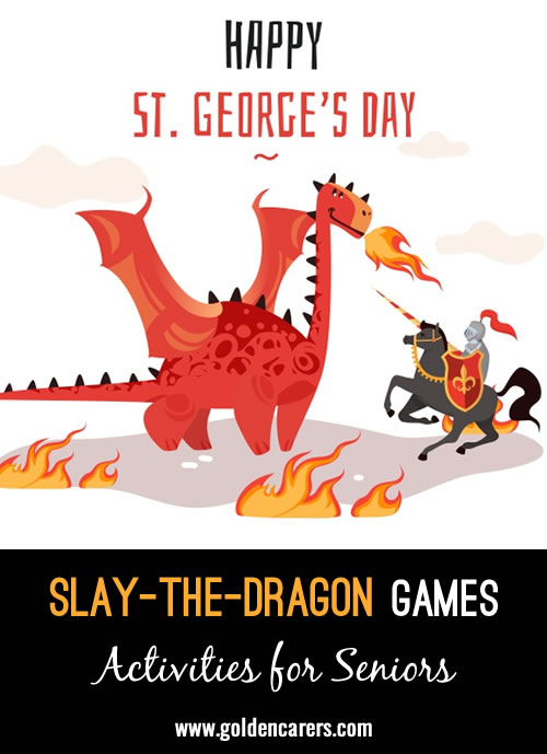 We focused on jousting and dragon slaying for St. George's Day!
