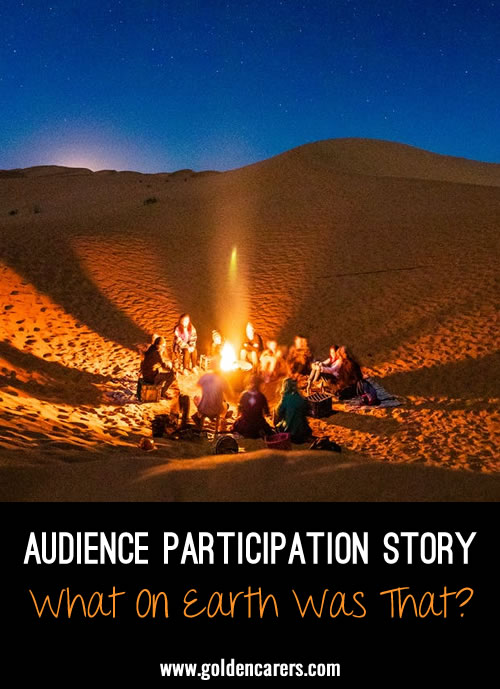 An audience participation story engages the audience in the story. It is a fun activity that promotes focus and creativity. Clients may repeat a word or phrase throughout the story: sing, gesture, or act.