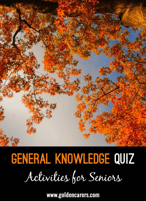 Another general knowledge quiz to enjoy!