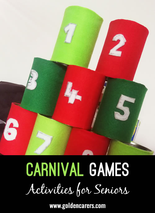 We had a wonderful afternoon with carnival games and all of our residents were filled with smiles and laughter!