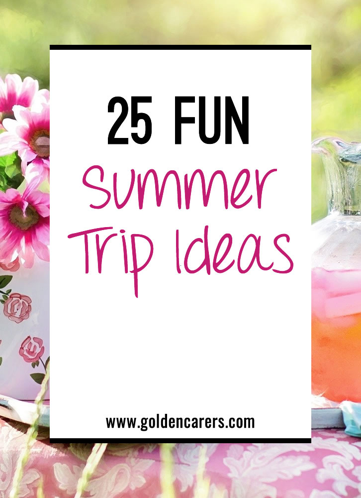 Summertime is an excellent time to get your residents out and about with excursions around your city. Try a few new trips in addition to your resident favorites using our list as inspiration