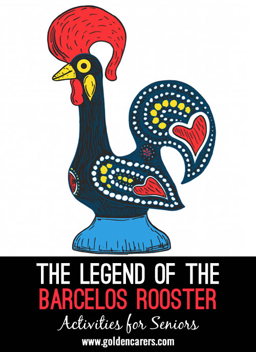 The Barcelos Rooster is one of the most common symbols of Portugal. It is said to be the embodiment of the Portuguese love of life and symbolizes faith, good luck and justice.