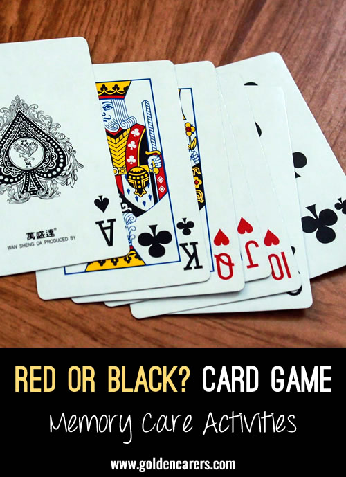 Red or Black Card Game