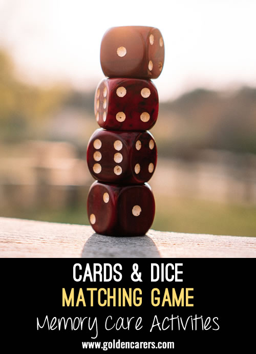 FLIP Cards and Dice Matching Game