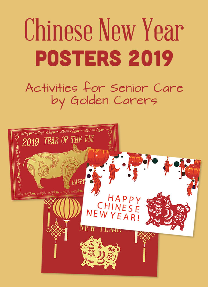 3 x Printable Chinese New Year Posters - 2019 - Year of the Pig!