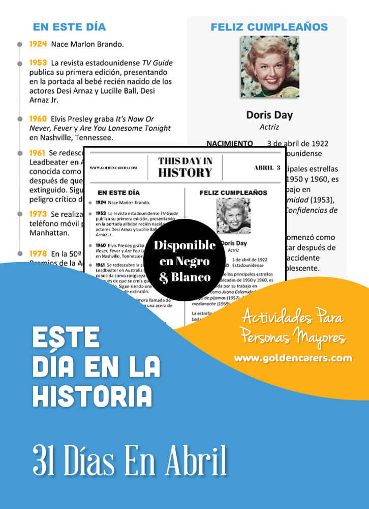 This Day in History - April - Spanish Version