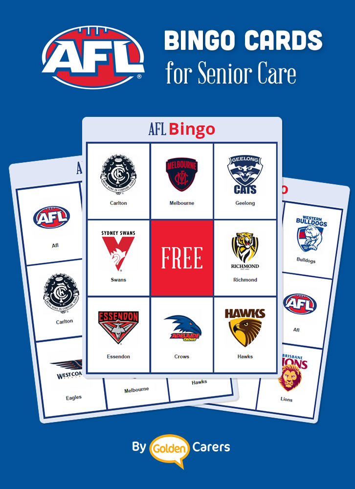 Here is a bingo game featuring AFL clubs for Australian members!