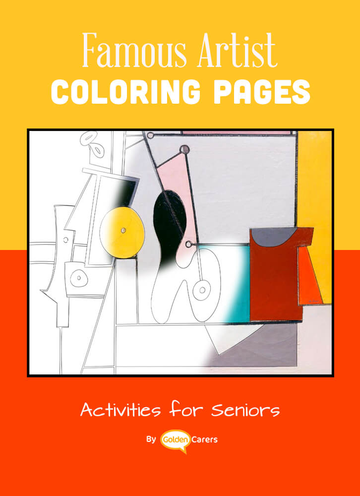 Famous Artist  Coloring Pages: Here is an impression of a work of art by Artist Impression - Arshile Gorky - Organization.