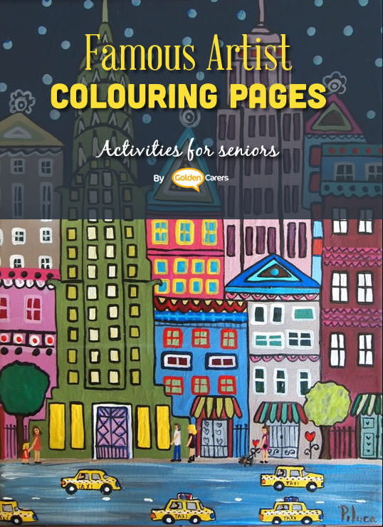 Famous Artist Coloring Pages: Here is an impression of an art of work by Pilar Camino Alcon