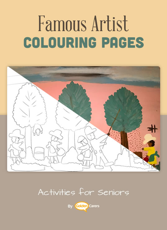 Famous Artist  Coloring Pages: Here is an impression of a work of art by Clementine Hunter