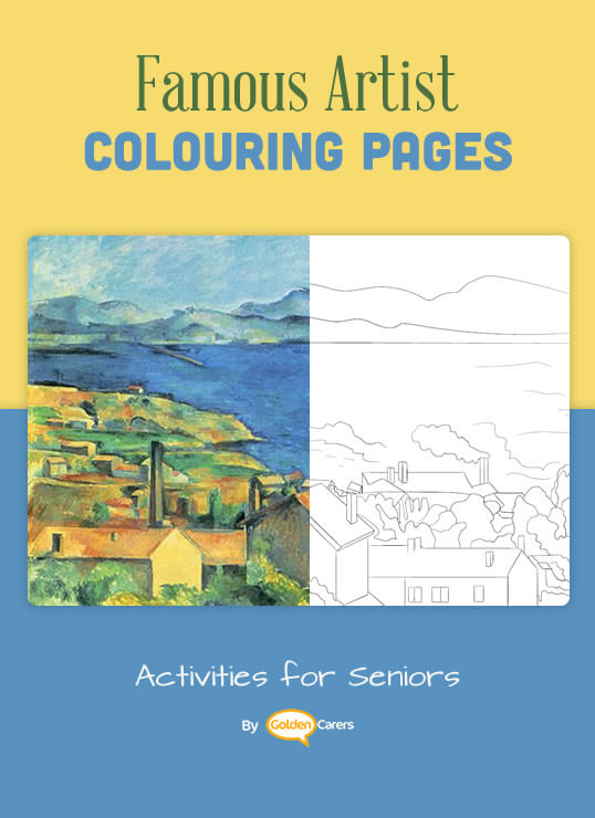 Famous Artist  Coloring Pages: Here is an impression of a work of art by Paul Cézanne - The Bay