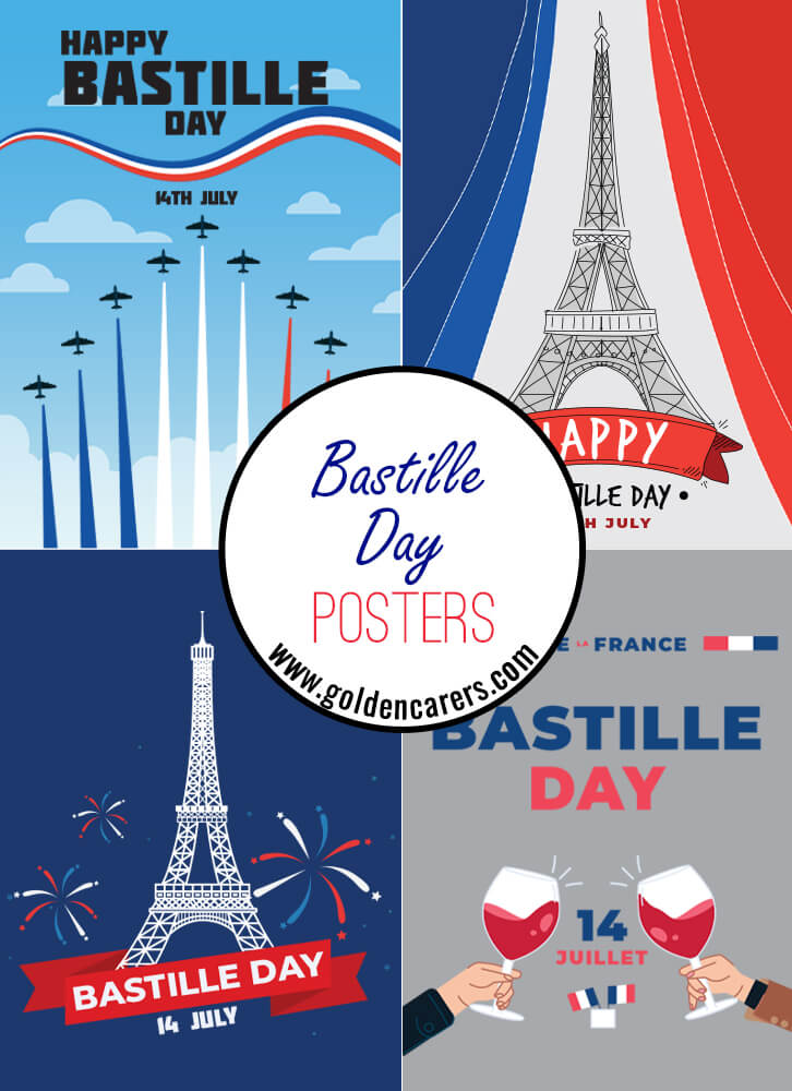 14th of July - Bastille Day Posters