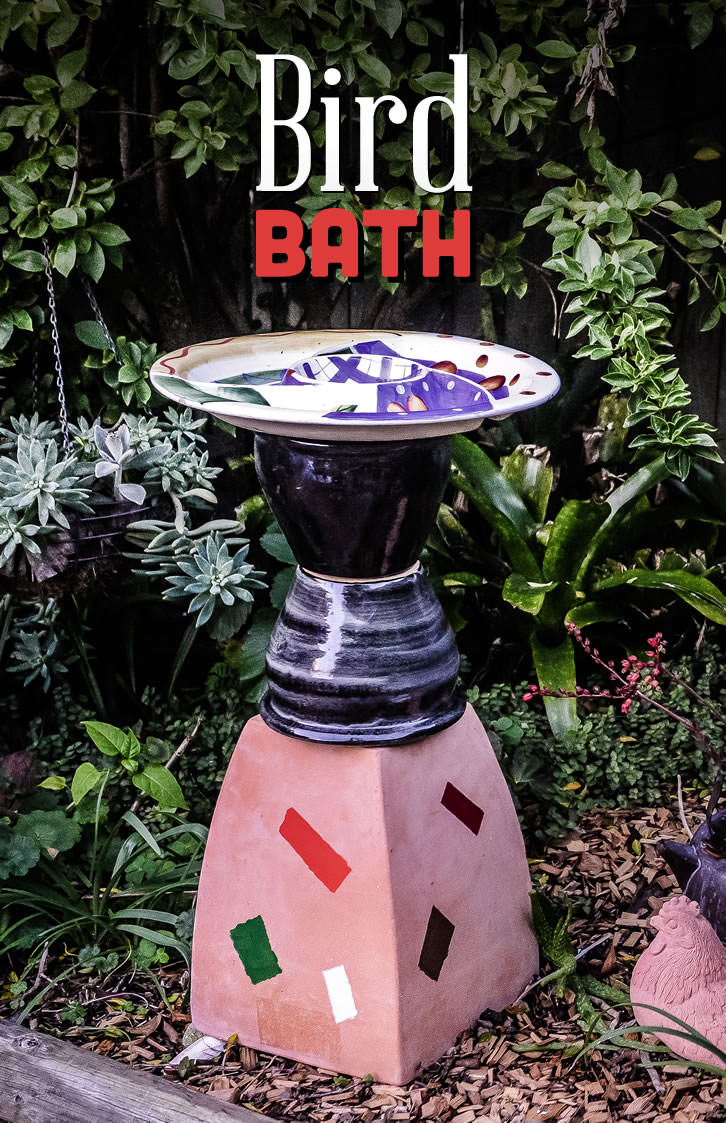 make your own bird bath