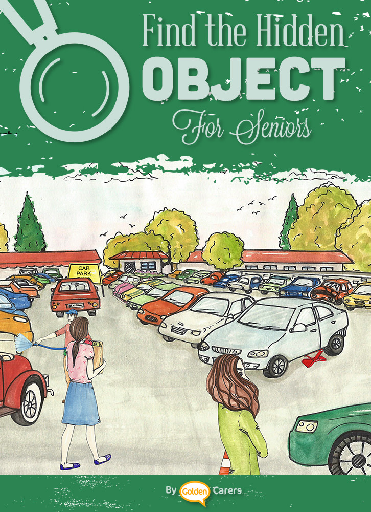 Find the hidden objects in this car yard illustration!