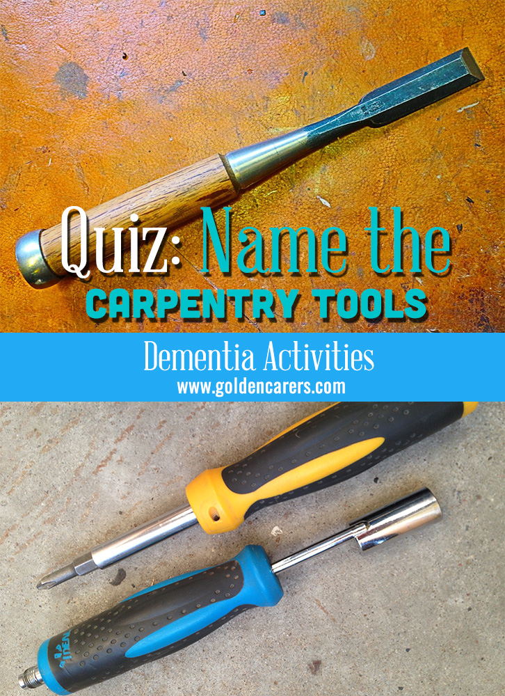 Name the Carpentry Tools