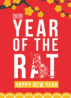 Printable Chinese New Year Poster - 2020 - Year of the Rat #2