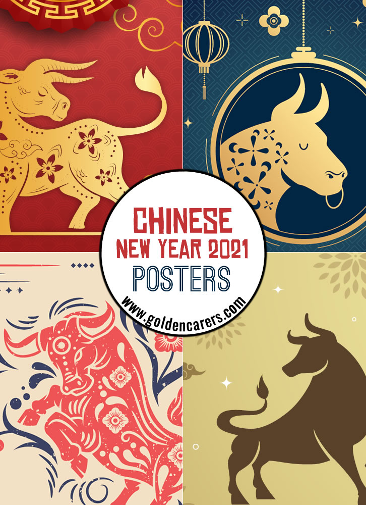 Here are some 2021 Chinese New Year Posters to help you celebrate!