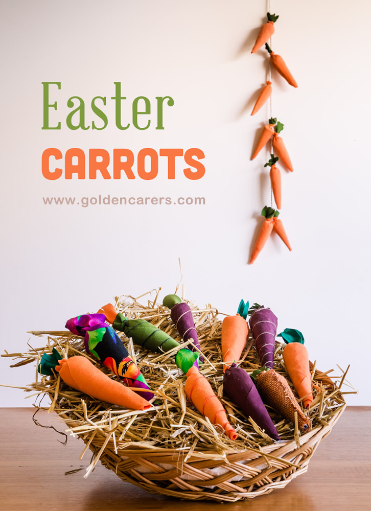Gorgeous DIY Easter carrots to decorate dining table or gather into a garland decoration.