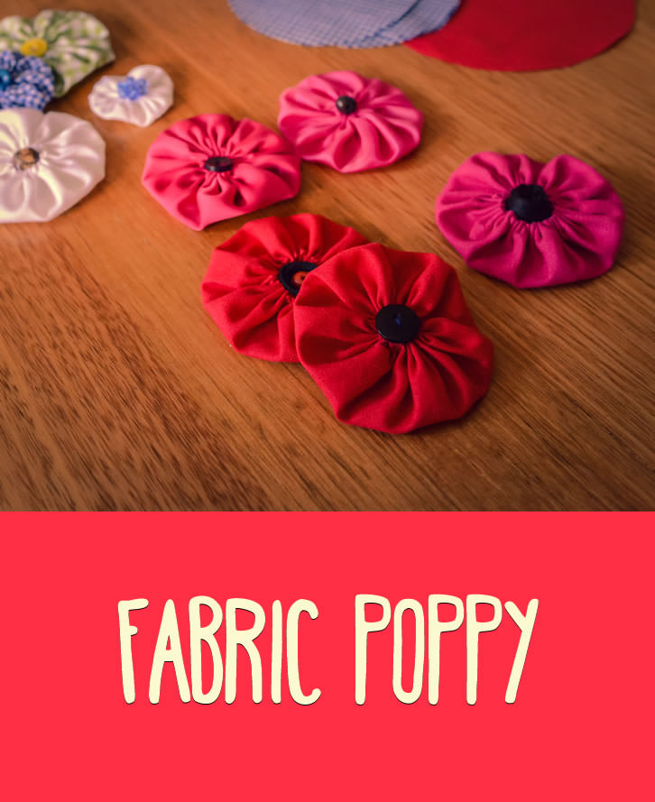 Poppy flowers have long been a part of Memorial Day, Remembrance Day and Anzac Day. Here is another way of making a Poppy; this time in fabric.