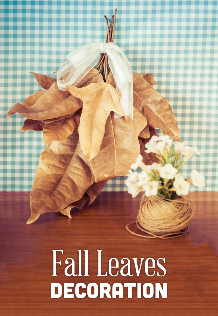 Lovely decorations made from fallen leaves to celebrate Autumn.