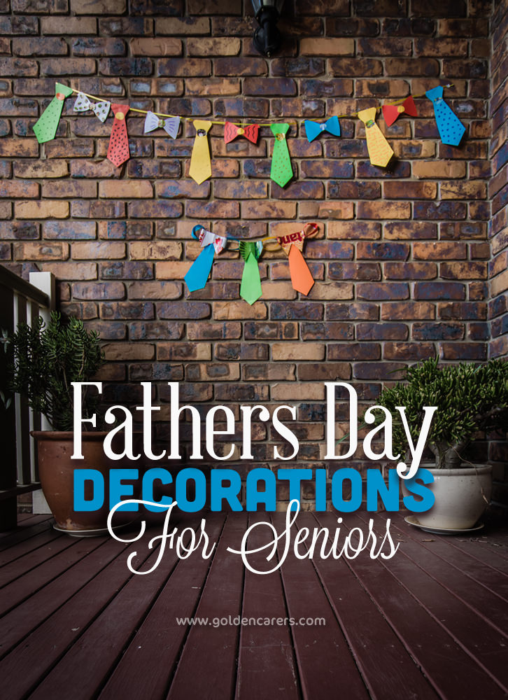 Gorgeous bow-tie and tie garland decorations for Father's Day. Perfect for a craft session with seniors.