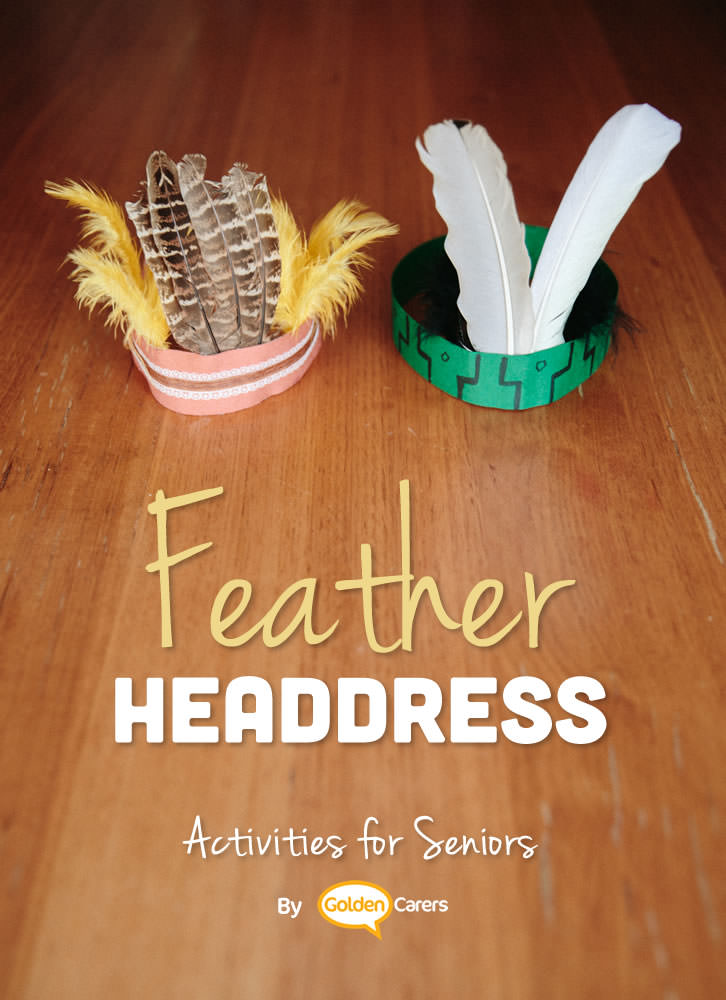 Feathers are used by many native people around the world. They are used to make headdresses, masks and to adorn clothes.  This easy headdress pattern is based on one of the many types used by American Indians.