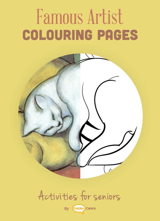 Artist Impression - Franz Marc - Sleeping Cat