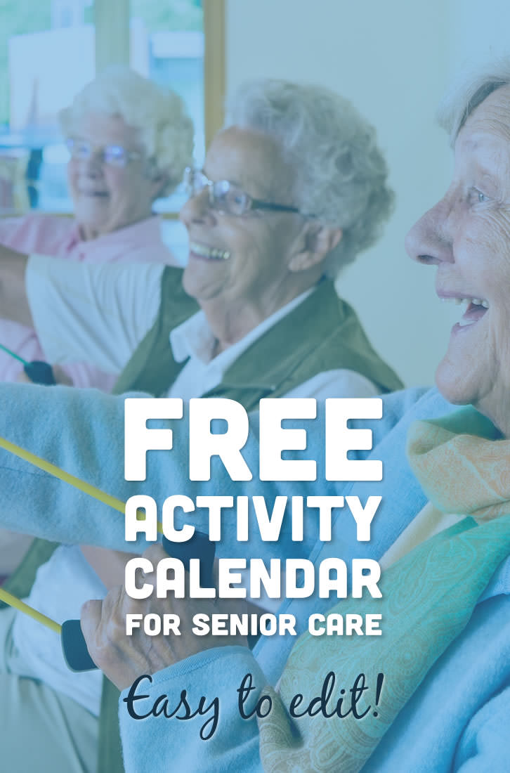 This easy to edit activity calendar is pre-filled with upcoming events and celebration ideas for nursing homes and assisted living facilities. A perfect resource for activity coordinators working with the elderly.