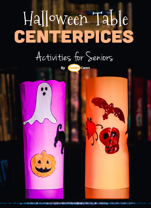 Halloween styled table decorations!