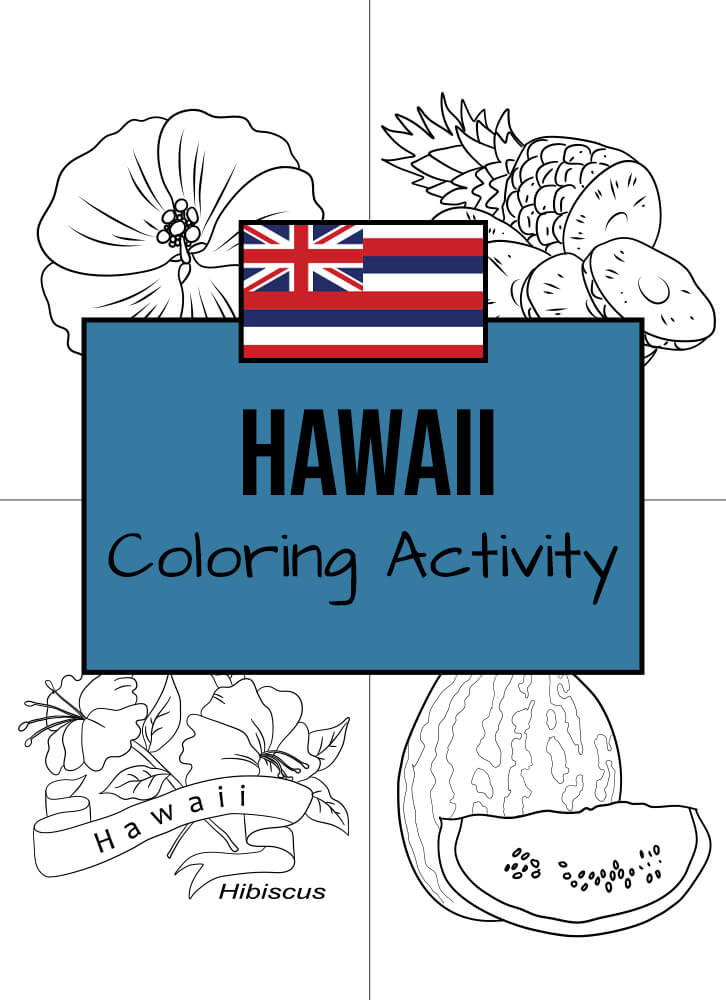 Here are some Hawaiian-themed coloring templates to enjoy!