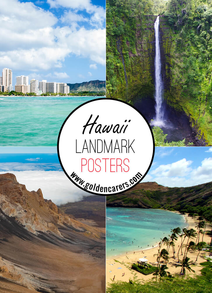 Posters of famous landmarks in Hawaii!