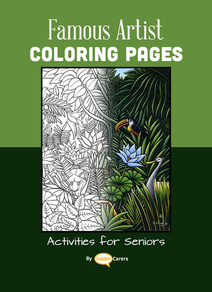 Famous Artist  Coloring Pages: Here is an impression of a work of art by Artist Impression - Henri Rousseau - 01.