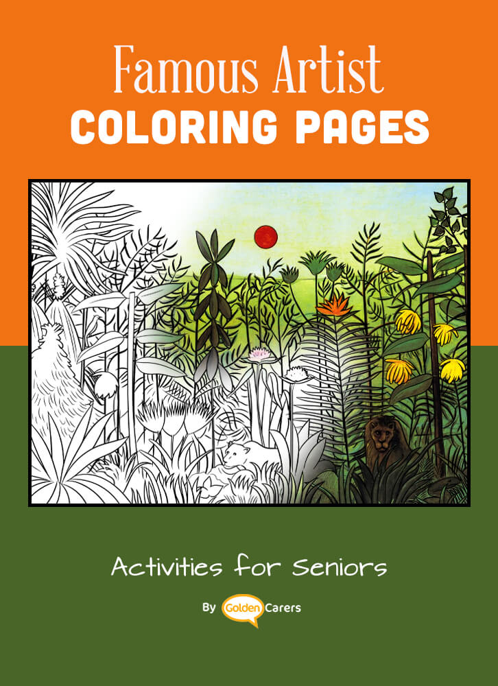 Famous Artist  Coloring Pages: Here is an impression of a work of art by Artist Impression - Henri Rousseau - 02.