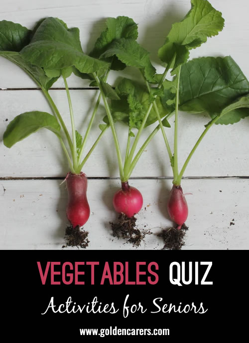 Name the vegetable Quiz