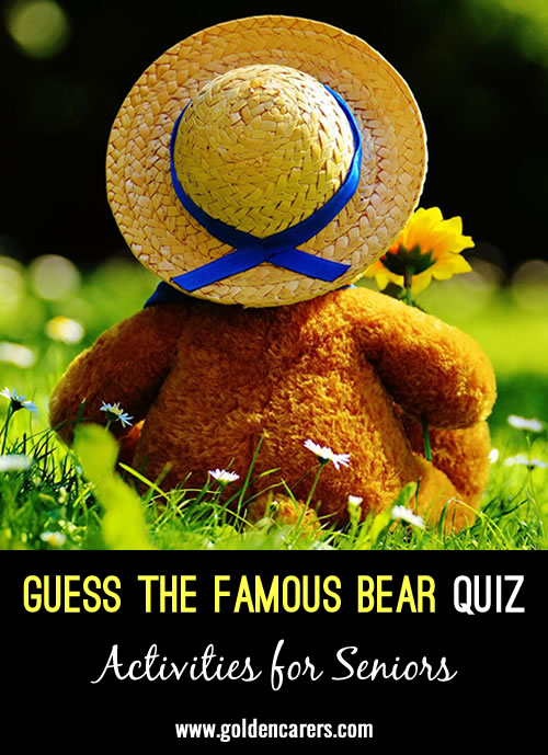 We had a teddy bears picnic and held a guess the famous bear quiz!