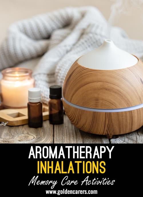 Sensory stimulation through the use of essential oils