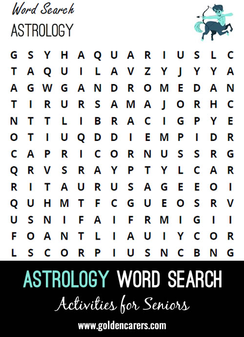 Here is an astrology-themed word finder to enjoy!
