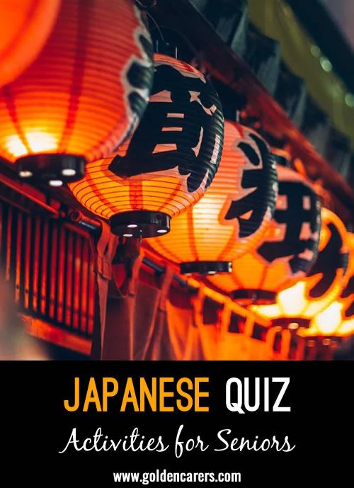 A Japan-themed quiz to enjoy!