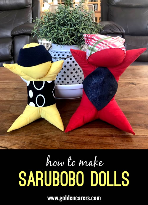 These gorgesous Japanese Sarubobo dolls are easy to make!
