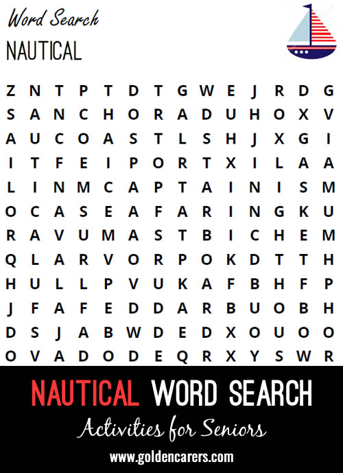 Here is a nautical-themed word search to enjoy!