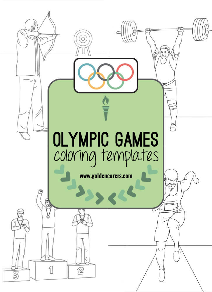 Olympic Games Colouring Templates