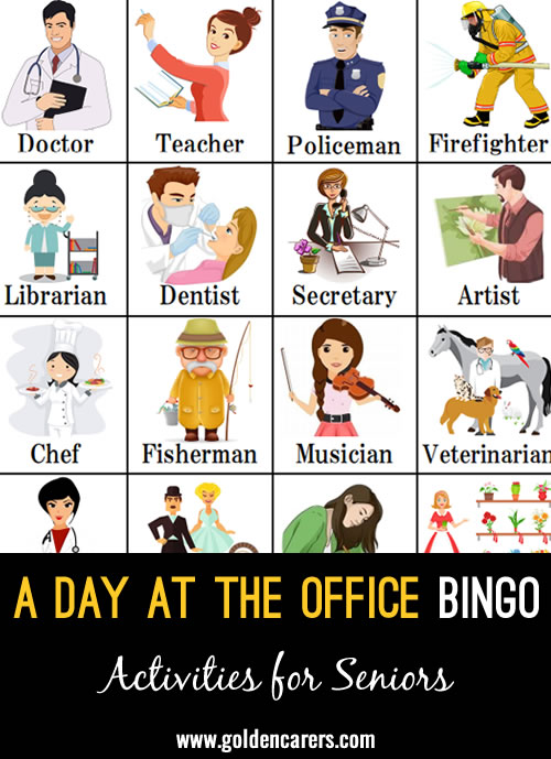 A Day at the Office Bingo