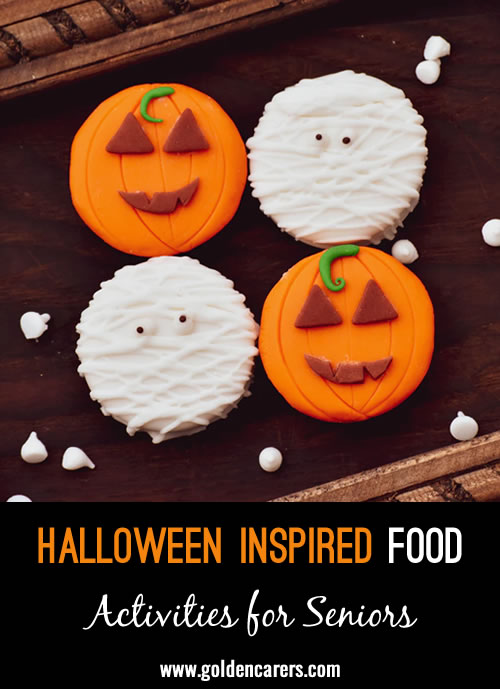 You can celebrate Halloween all month long by incorporating fun food into your events or meals. Work closely with your dining team to see what recipes you can recreate to serve your residents and visitors this season.