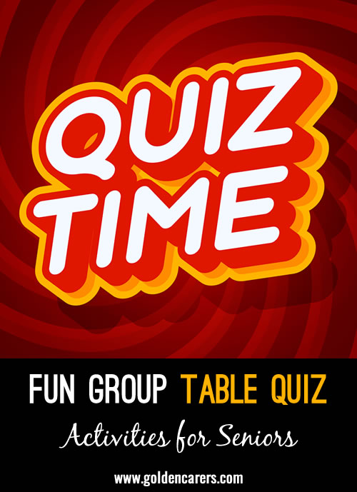 Fun Group Table Quiz