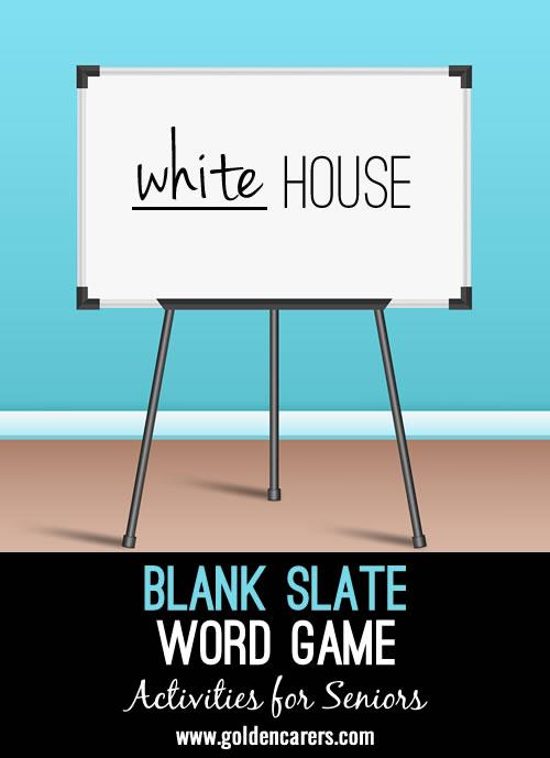 Blank Slate word game
