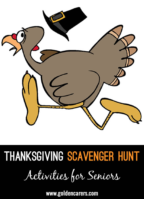 The Thanksgiving Scavenger Hunt is a mind and body exercise game that can be played in visual, written or verbal format. It's an enjoyable way of working on executive functioning such as sequencing, organising and reinforcing problem-solving skills.
