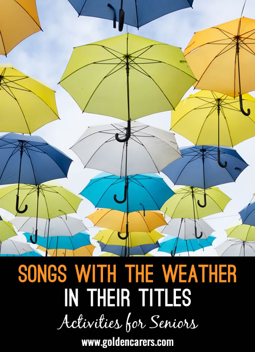 Songs with the Weather In Their Titles
