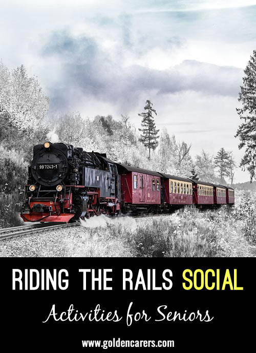 Trains were a popular mode of transportation in the past and there is still quite a bit of fascination with them today. Invite your residents to enjoy a Riding the Rails Social with fun food and decorations that inspire them to talk about - and learn about - traveling by train car.