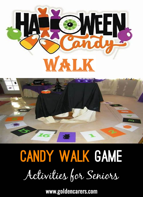 This is a fun game for everyone to enjoy. Trick or Treat, walk your feet!